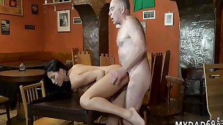 Old man vintage gangbang and wants pal' chum's daughter Of