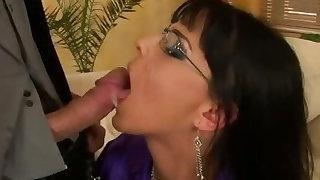 Glamorous euro classy whore gets facial
