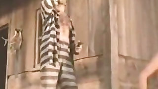 Prisoners have a hard sex with lady