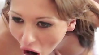 Sexy slut get fucked then facial from very lucky guy