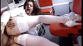 Jessica fucked by her doctor in the ambulance!