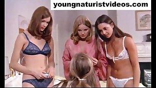very hot nudist teens vintage movie