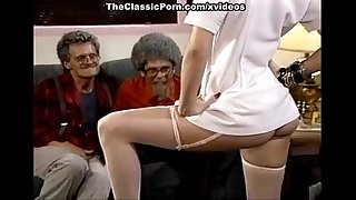 Lois Ayres, Billy Dee, Joey Silvera in sexy 80's porn chick enjoys a threesome