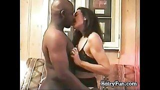 Hairy Mature Woman Enjoying His BBC